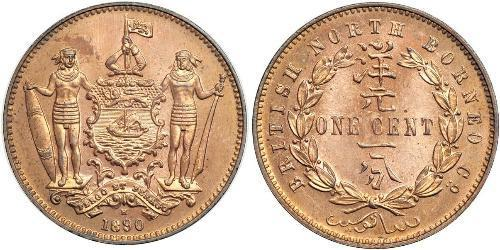 1 Цент Північний Борнео (1882-1963) Бронза/Мідь