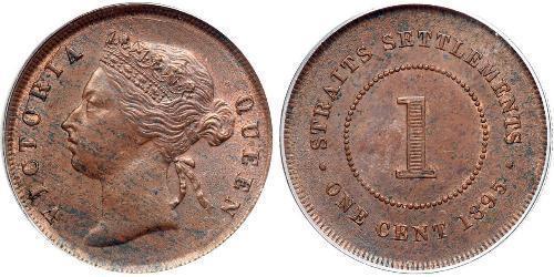 1 Цент Стрейтс-Сетлментс (1826 - 1946) Медь