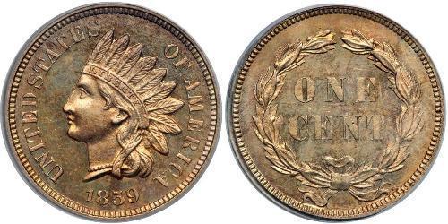 1 Цент США (1776 - ) Нікель/Мідь