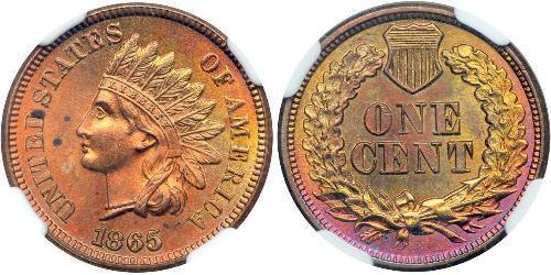 1 Цент США (1776 - ) Цинк/Олово/Мідь