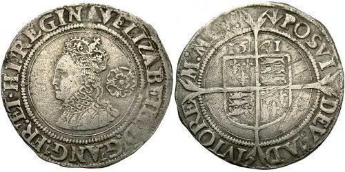 1 Шестипенсовик Королевство Англия (927-1649,1660-1707) Серебро Елизавета I (1533-1603)