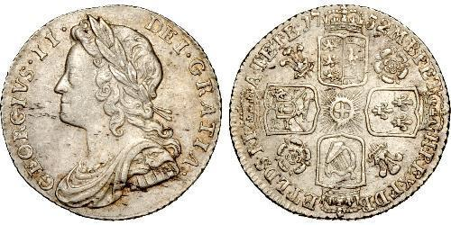 1 Шестипенсовик / 6 Пенни Королевство Великобритания (1707-1801) Серебро Георг II (1683-1760)