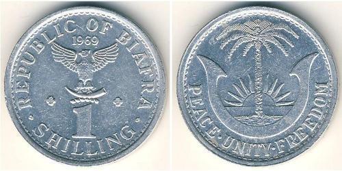 1 Шиллинг Республика Биафра (1967-1970) Алюминий