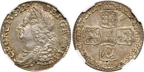 1 Шиллинг Королевство Великобритания (1707-1801) Серебро Георг II (1683-1760)