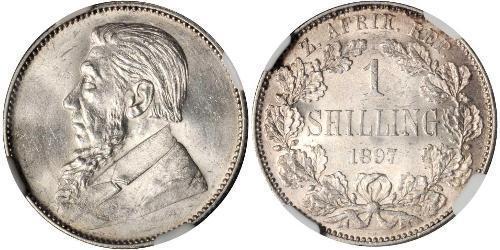 1 Шиллинг Южно-Африканская Республика Серебро Крюгер, Пауль (1825 - 1904)