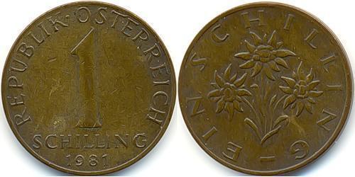 1 Шиллинг Австрийская Республика(1955 - )