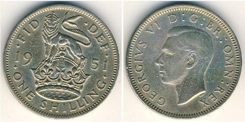 1 Шилінг Велика Британія (1922-) Нікель/Мідь Георг VI (1895-1952)