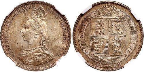1 Шилінг Сполучене королівство Великобританії та Ірландії (1801-1922) Срібло Вікторія (1819 - 1901)