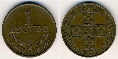 1 Эскудо Portuguese Republic - Ditadura Nacional (1926 - 1933) Бронза