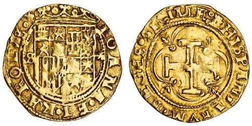 1 Эскудо Габсбургская Испания (1506 - 1700) Золото