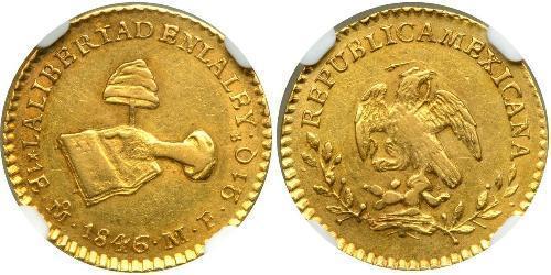 1 Эскудо Centralist Republic of Mexico (1835 - 1846) Золото