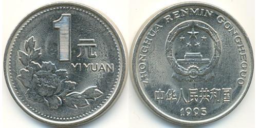 1 Юань Китайская Народная Республика Никель/Сталь