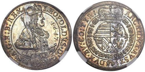 1/10 Thaler Sacro Romano Impero (962-1806) Argento Leopoldo I d