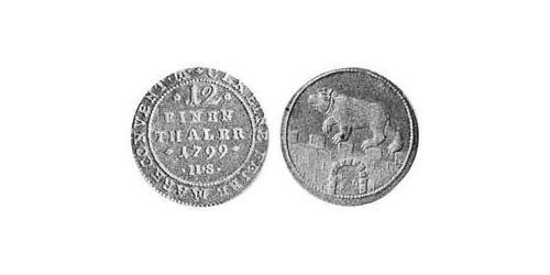 1/12 Thaler Anhalt-Bernburg (1603 - 1863) Billon Alexius Frederick Christian, Duke of Anhalt-Bernburg (1767 – 1834)