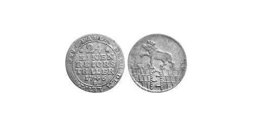 1/24 Thaler Anhalt-Bernburg (1603 - 1863) Billon Victor Frederick, Prince of Anhalt-Bernburg (1700 – 1765)