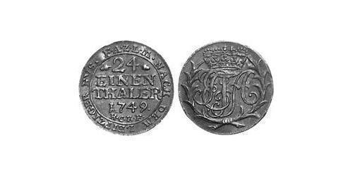 1/24 Thaler Principality of Anhalt-Zerbst (1544 - 1796) Billon Frederick Augustus, Prince of Anhalt-Zerbst (1734 – 1793)