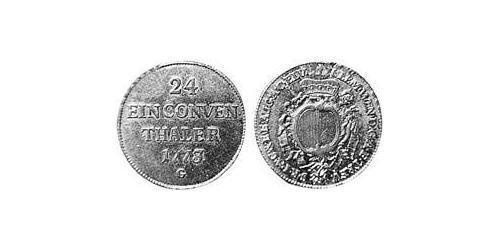 1/24 Thaler Imperial City of Augsburg (1276 - 1803) Silver