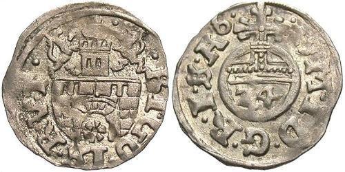 1/24 Thaler States of Germany Silver Matthias, Holy Roman Emperor (1557 - 1619)