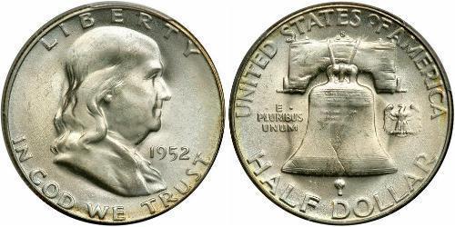 1/2 Доллар США (1776 - ) Серебро Франклин Делано Рузвельт (1882-1945)