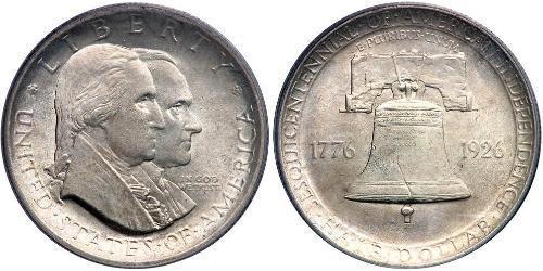 1/2 Доллар США (1776 - ) Серебро Джордж Вашингтон