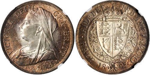 1/2 Крона(английская) Соединённое королевство Великобритании и Ирландии (1801-1922) Серебро Виктория (1819 - 1901)