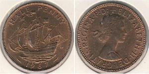 1/2 Пенни Великобритания (1922-) Бронза Елизавета II (1926-)