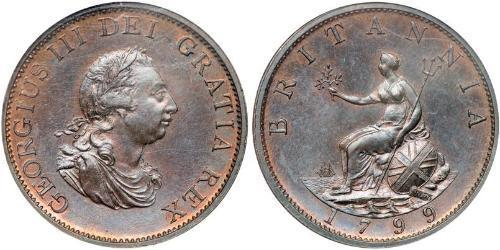 1/2 Пенни Соединённое королевство Великобритании и Ирландии (1801-1922)  Георг III (1738-1820)