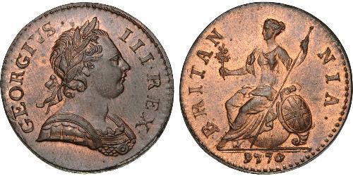1/2 Пені Королівство Великобританія (1707-1801) Бронза Георг III (1738-1820)