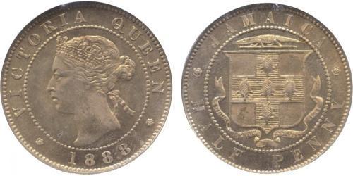 1/2 Пені Ямайка (1962 - ) Нікель/Мідь Вікторія (1819 - 1901)