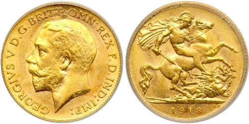 1/2 Соверен Австралия (1788 - 1939) Золото Георг V (1865-1936)