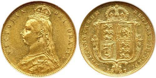 1/2 Соверен Великобритания  Золото Виктория (1819 - 1901)