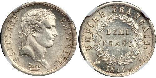 1/2 Франк Первая Французская империя (1804-1814) Серебро Наполеон I(1769 - 1821)