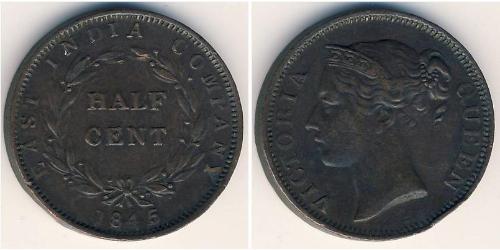 1/2 Цент Стрейтс-Сетлментс (1826 - 1946) Медь