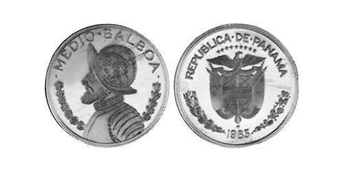 1/2 Balboa Republic of Panama Copper/Nickel Vasco Núñez de Balboa (1475 – 1519)