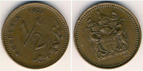 1/2 Cent Rodesia (1965 - 1979) Bronce