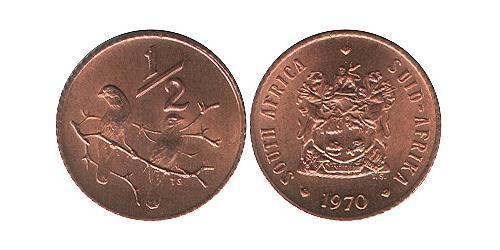 1/2 Cent Sudáfrica Bronce