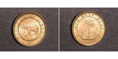 1/2 Cent Liberia Bronzo