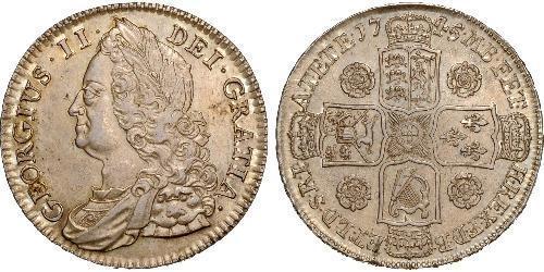 1/2 Corona Regno Unito di Gran Bretagna (1707-1801) Argento Giorgio II (1683-1760)