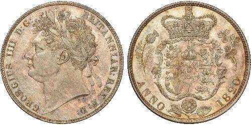 1/2 Corona Regno Unito di Gran Bretagna e Irlanda (1801-1922) Argento Giorgio IV (1762-1830)