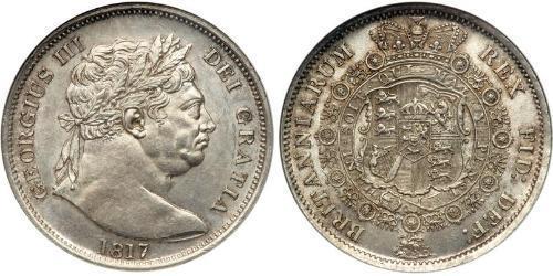 1/2 Corona Regno Unito di Gran Bretagna e Irlanda (1801-1922) Argento Giorgio III (1738-1820)