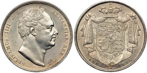 1/2 Corona Regno Unito di Gran Bretagna e Irlanda (1801-1922) Argento Guglielmo IV (1765-1837)