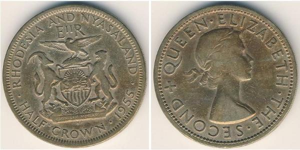 1/2 Crown Rhodesia (1965 - 1979) Copper