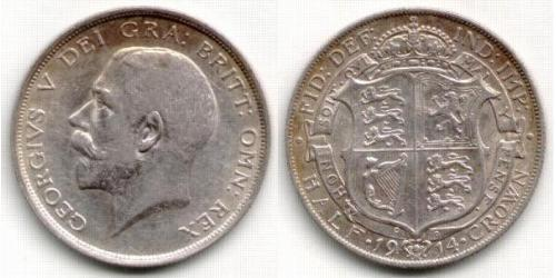 1/2 Crown Reino Unido de Gran Bretaña e Irlanda (1801-1922) Plata Jorge V (1865-1936)