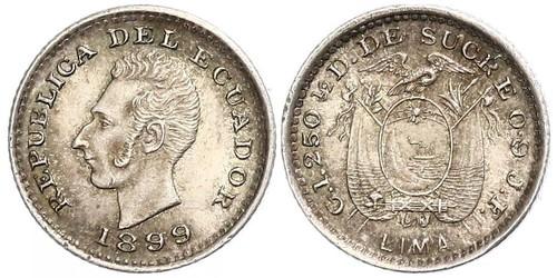 1/2 Decimo Ecuador Plata