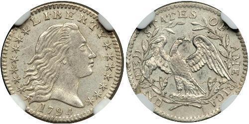 1/2 Dime / 5 Cent Estados Unidos de América (1776 - ) Plata