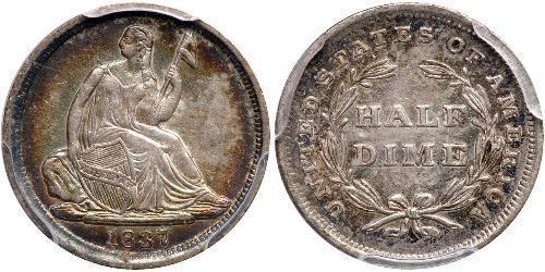 1/2 Dime / 5 Cent Stati Uniti d