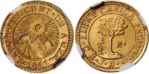 1/2 Escudo Guatemala / Costa Rica / Federal Republic of Central America (1823 - 1838) Gold