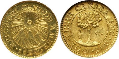 1/2 Escudo Guatemala Oro