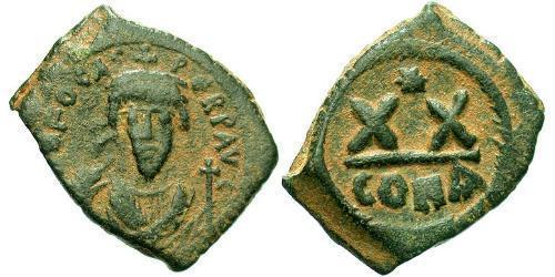 1/2 Follis Byzantine Empire (330-1453) Bronze Phocas(?-610)