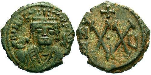 1/2 Follis Byzantine Empire (330-1453) Bronze Maurice Tiberius (539-602)